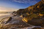 Port Bara, Brittany, France. The wild coast of Quiberon peninsula.