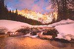 Winter in the naturpark of Paneveggio - Pale di San Martino, Venegia valley, Trentino, Dolomites, Italy