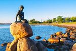 The Little Mermaid, Copenhagen, Hovedstaden, Denmark, Northern Europe.