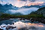 The photographer, Adamello Brenta Natural park in Trentino alto Adige, Italy.