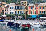 Tourists at the harbor,Portofino, province of Genoa, Liguria, Italy