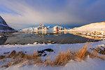 Mountains and sea, Vagjebukta, Leknes, Lofoten Islands, Norway
