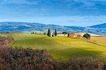 Chapel of the Madonna of Vitaleta in spring season Europe, Italy, Tuscany, Siena province, San Quirico municipality