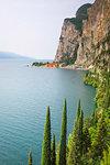 Strada della Forra, west side of Garda Lake. Tremosine, Brescia district, Garda lake, Lombardia, Italy