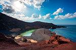El Golfo, the green lagoon, Lanzarote, Canary island, Spain, Europe