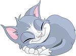 Illustration of gray cat are sleeping