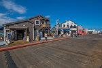 View of shops on Stearns Wharf, Santa Barbara, Santa Barbara County, California, United States of America, North America
