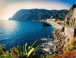 Monterosso al Mare on sunny day, Cinque Terre, Liguria, Italy