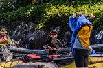 Couple on kayaking trip, Johnstone Strait, Telegraph Cove, Canada