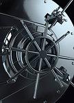 Vault lock, close up illustration.