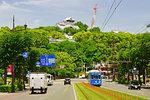 Kumamoto Castle and Kumamoto Tram Under repair, Kumamoto Prefecture, Japan