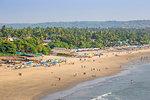 View of Arambol beach, Goa, India, Asia