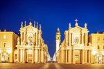 Churches of Santa Cristina and Carlo Borromeo, Piazza San Carlo, Turin, Piedmont, Italy, Europe