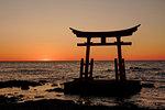 Sunset and Torii (Entrance to Shinto Shrine)