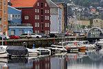 Forsenkaia Bryggene and Nidelva River, Trondheim City, Trondelag County, Norway, Scandinavia, Europe