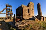 Cornish Engine House and Winding Gear, Magpie Mine, historic lead mine, National Monument, Peak District, Derbyshire, England, United Kingdom, Europe