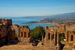 Teatro Greco, Taormina, Sicily, Italy, Europe