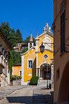 Via Albertoletti and church of S.M. Assunta, Orta San Giulio, Piemonte (Piedmont), Italy, Europe