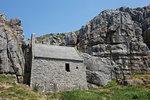 St. Govan's chapel, near St. Govan's Head, Pembrokeshire, Wales, United Kingdom, Europe