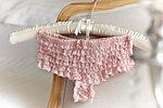 Lacy ladies' panties on hanger