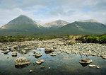 Rocks in still rural lake