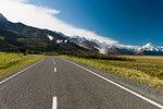 Paved road in rural landscape