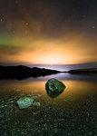 Milky way, Imagine Peace Tower, Kleifarvatn, Iceland