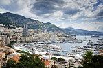 View of coastline and harbor, Monte Carlo, Monaco