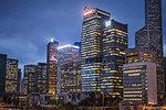 Cityscape at night, Hong Kong, China