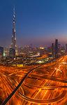 Downtown Dubai, Burj Khalifa at night, United Arab Emirates