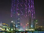 Reflection of Canton Tower, Guangzhou, China.