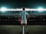 Footballer waiting for kick off