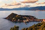 Aerial view of Sestri Levante, Liguria, Italy