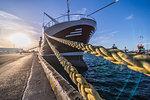 Ship docked in harbour, Reykjavik, Iceland