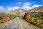 lost desert road in north Argentina quebrada