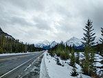 Road in Jasper National Parkin Canada in Winter