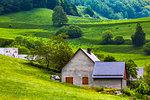 House on hillside in Cires near Bagneres-de-Luchon in Haute-Garonne in Occitanie Region in the Pyrenees, France