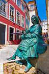 Tricana de Coimbra statue in the Old Town, Coimbra, Portugal