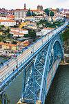 Dom Luis I Bridge and harbor in Porto, Norte, Portugal