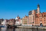 Hanseatic League houses on the Motlawa river, Gdansk, Poland, Europe