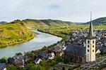 Vineyards above Bremm on the Moselle River, Rhineland-Palatinate Germany, Europe
