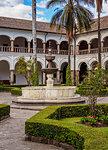 Cloister of Saint Francis Monastery, UNESCO World Heritage Site, Quito, Pichincha Province, Ecuador, South America