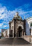 Metropolitan Cathedral of Quito at Independence Square (Plaza Grande), Quito, Pichincha Province, Ecuador, South America