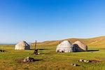 Yurt at Songkol Lake, Kyrgyzstan, Central Asia, Asia