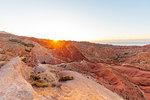 Fairy Tale canyon at sunset, Skazka Valley, Tosor, Kyrgyzstan, Central Asia, Asia