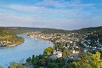 View of River Rhine, Boppard, Rhineland-Palatinate, Germany, Europe