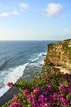 Limestone cliffs and the Indian Ocean viewed from Uluwatu Temple, Pecatu, Bali, Indonesia, Southeast Asia, Asia