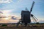 The windmills of Oland, UNESCO World Heritage Site, Sweden, Scandinavia, Europe