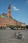 Lone bicycle on Radhuspladsen, City Hall Square, Copenhagen, Denmark, Scandinavia, Europe
