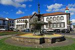 Fountain, Vasco Da Gama Square, Ponta Delgada City, Sao Miguel Island, Azores, Portugal, Atlantic, Europe